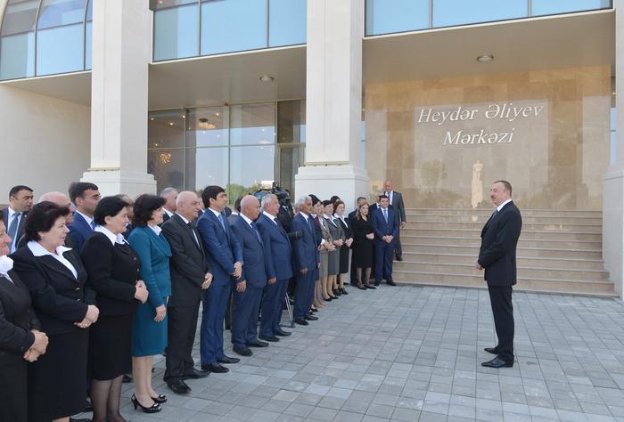 Azerbaijani president attends opening of Heydar Aliyev Center in Agdash (PHOTO)