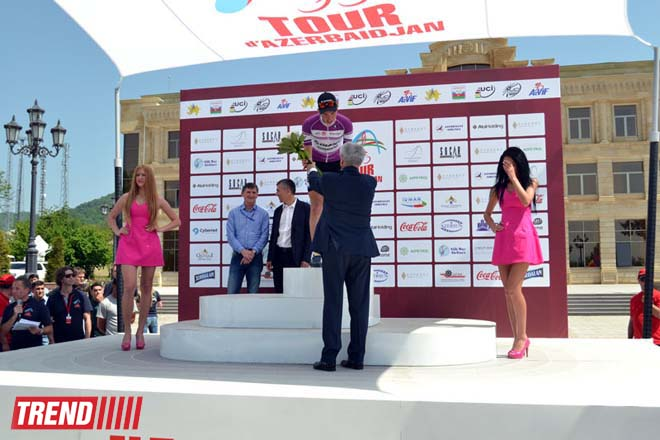 Third stage of Tour d'Azerbaidjan-2014 cycle race ended (PHOTO)