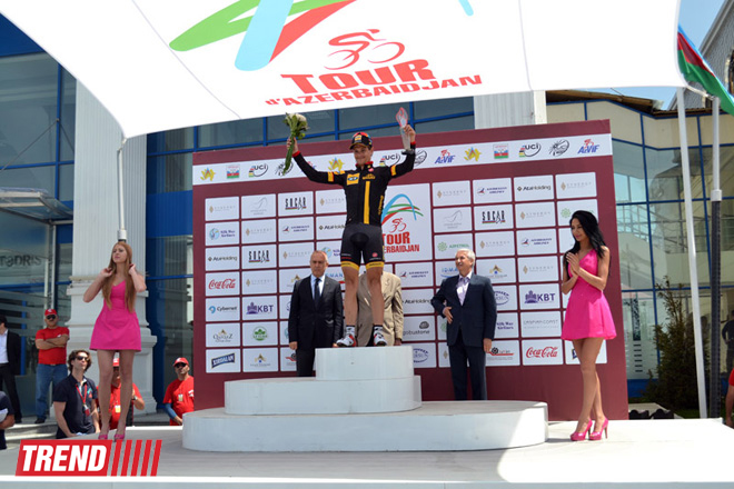 Stage 4 of Tour d'Azerbaidjan-2014 cycling race ended