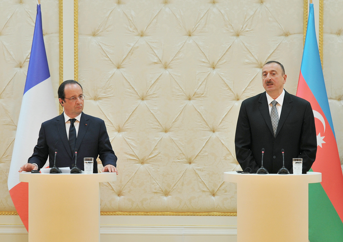 President Aliyev: Azerbaijan-France political relations are at high level (PHOTO)
