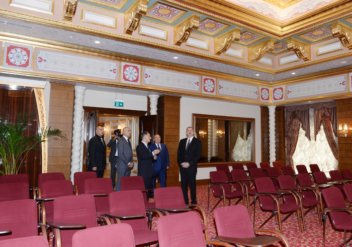 Azerbaijani president attends opening of five-star hotel in Shamakha district (PHOTO)