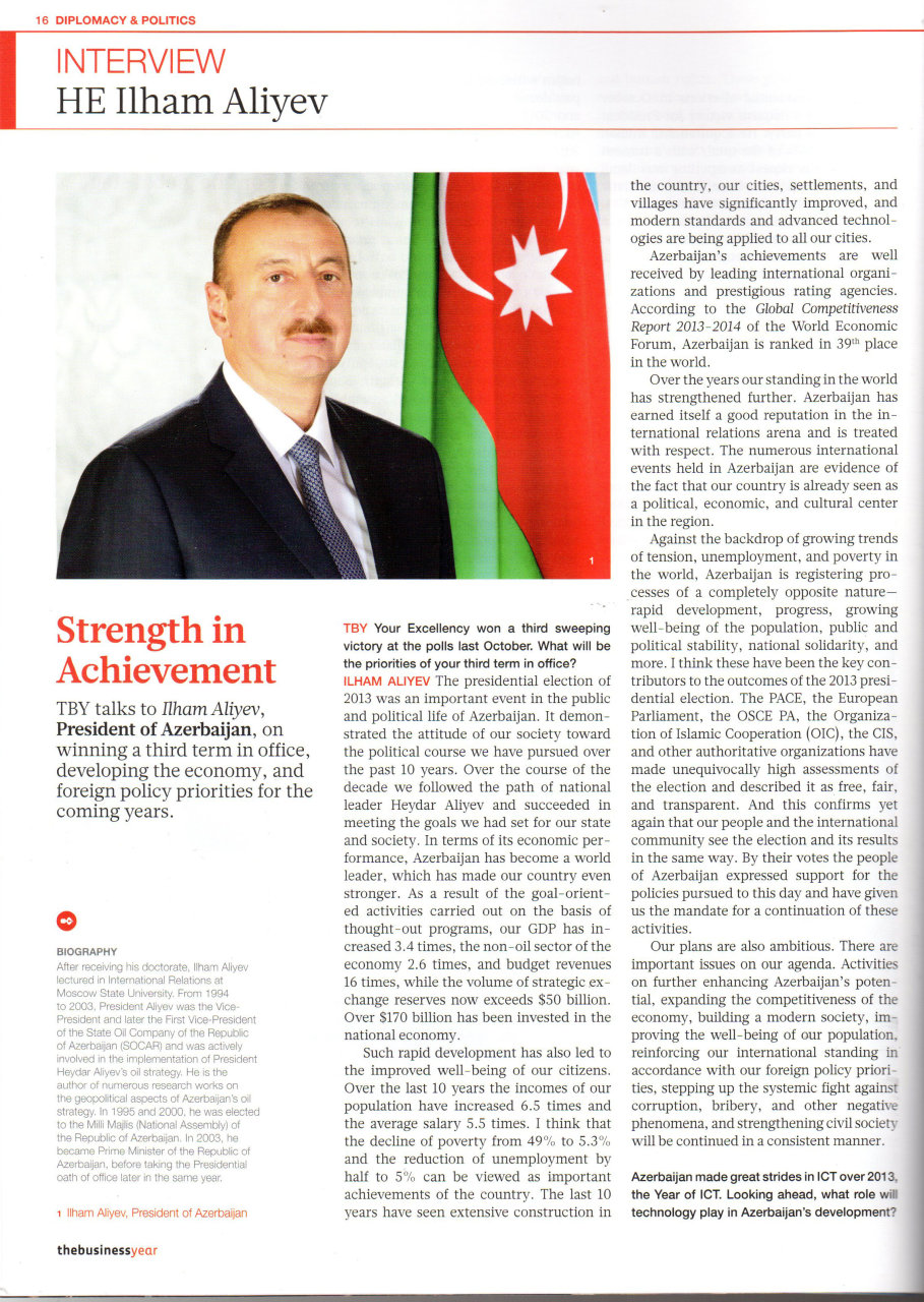 Ilham Aliyev: Azerbaijan's foreign policy underpinned by protection of national interests