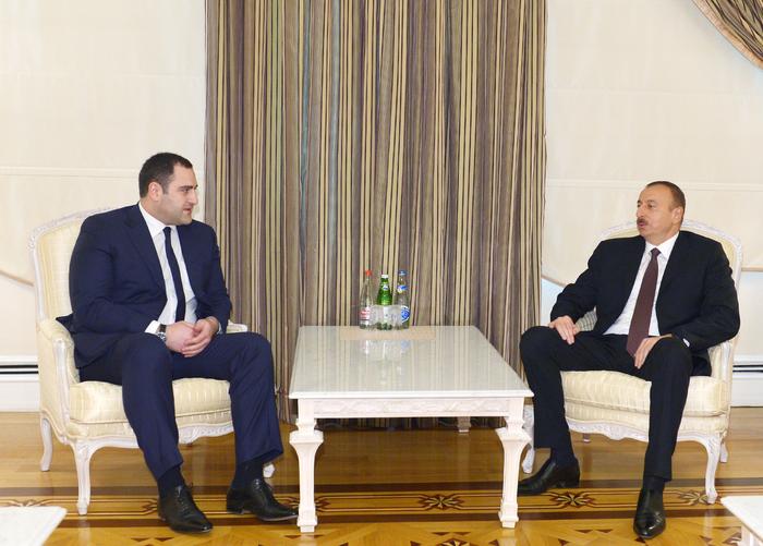 Azerbaijani president receives Georgian interior minister