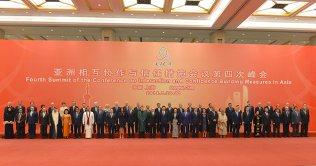 Azerbaijani president and his spouse attend reception in Shanghai (PHOTO)