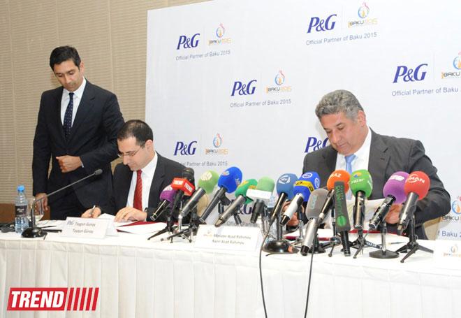 Baku 2015 European Games announces Procter & Gamble as first official partner (PHOTO)