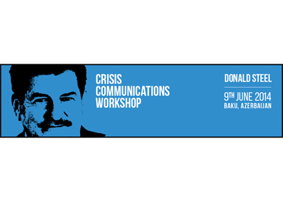 Crisis Communications Workshop With Donald Steel in Baku
