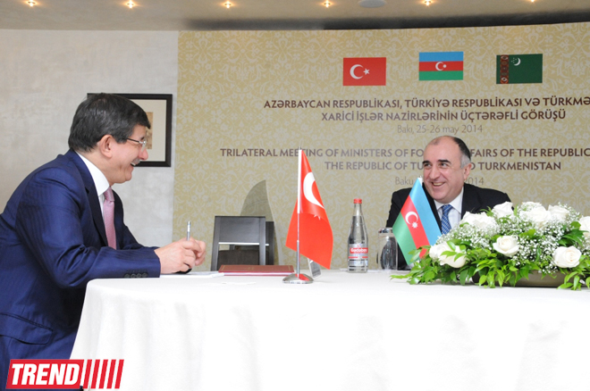 Azerbaijani, Turkish, Turkmen FMs adopt Baku Declaration (PHOTO)