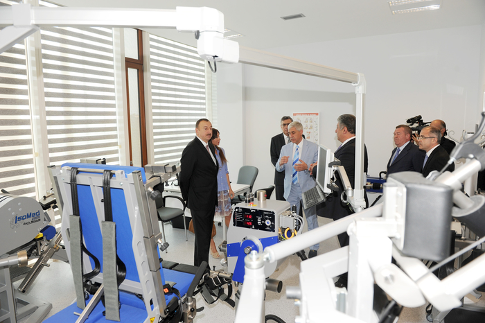 President Aliyev and spouse attend opening of Azerbaijan's new sports medicine institute