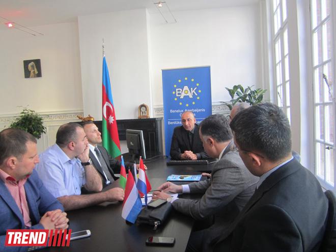 В новом офисе Конгресса азербайджанцев Бенилюкса прошла встреча (ФОТО)