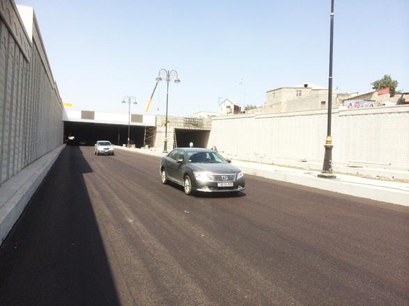 Bakıda yeni tunel tipli yol ötürücüsü istifadəyə verildi (FOTO) (VİDEO)