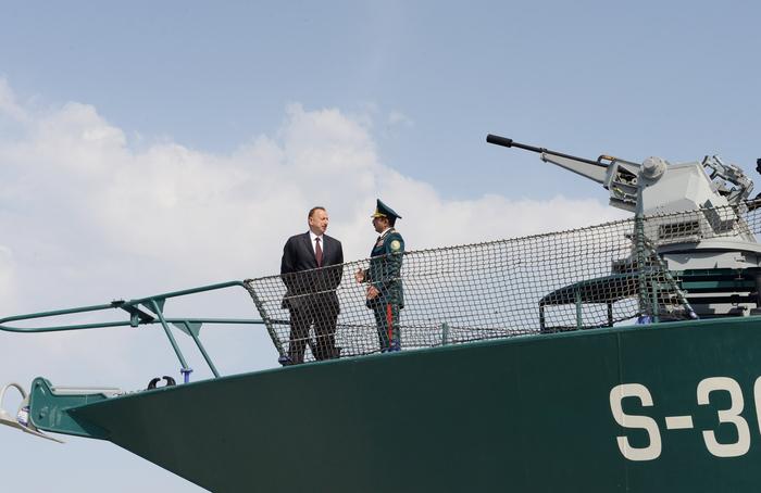 Prezident İlham Əliyev DSX-nin Sahil Mühafizəsinin yeni gəmi inşası zavodunun açılışında iştirak edib (ƏLAVƏ OLUNUB) (FOTO)