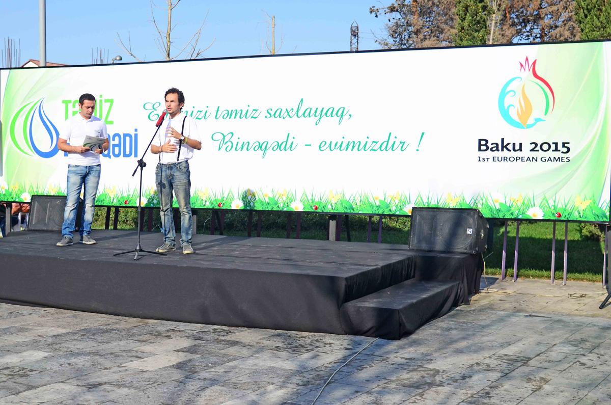 """""""Təmiz Binəqədi"""" sosial layihəsi çərçivəsində veloyürüş keçirilib (FOTO)"""