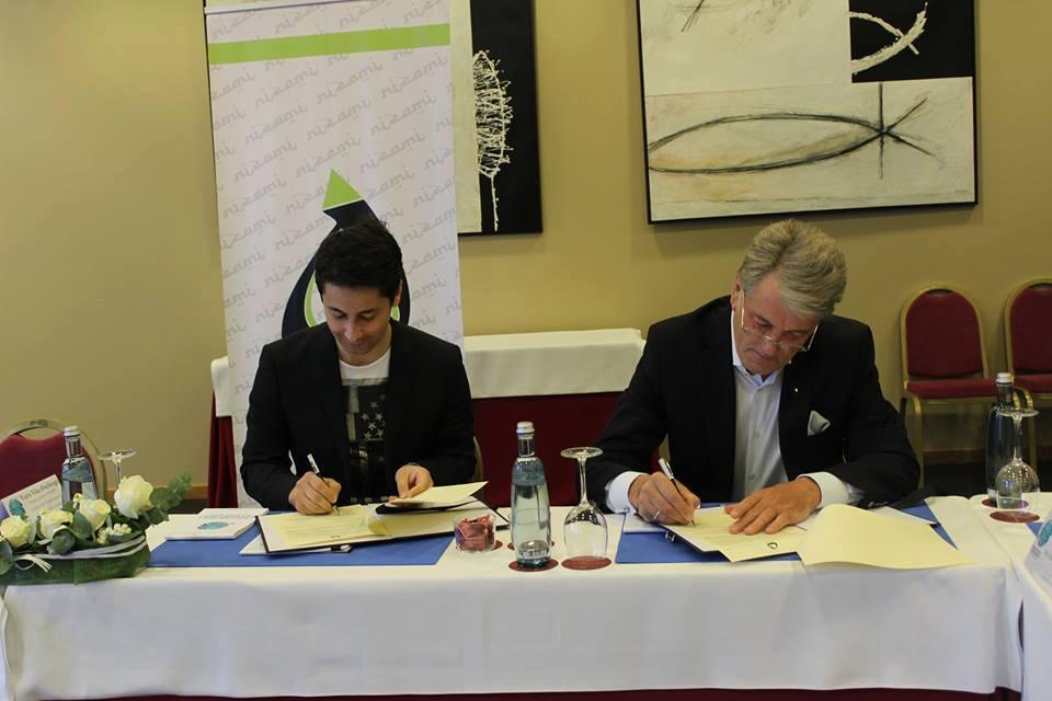 Международный центр Низами Гянджеви будет сотрудничать с организацией экс-президента Украины (ФОТО)