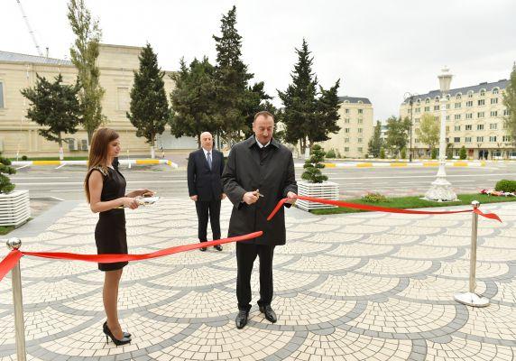 Президент Азербайджана принял участие в открытии шахматной школы в Хырдалане (ФОТО)