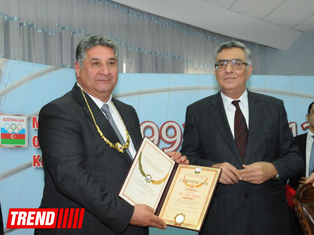 Награждены азербайджанские спортсмены - победители летних юношеских Олимпийских игр (ФОТО)