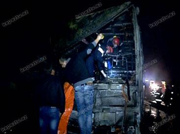 На западе Азербайджана произошло ДТП с участием автобуса, двое погибших, около 40 раненых (версия 2) (ФОТО)