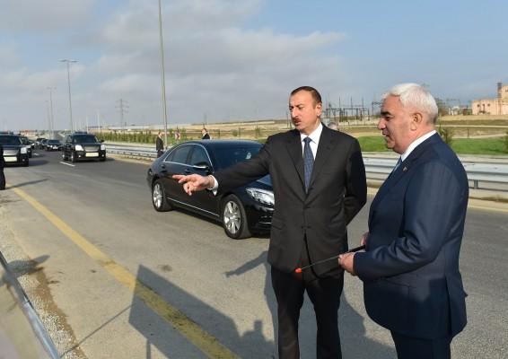 Президент Азербайджана посетил  Пираллахинский район Баку (ФОТО)