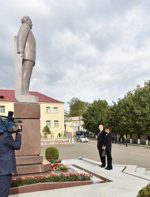 Президент Азербайджана и его супруга совершили визит в Дашкесанский район  (ФОТО)