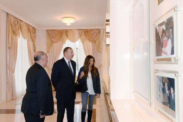 Президент Ильхам Алиев и его супруга приняли участие в открытии Центра Гейдара Алиева в Геранбое (ФОТО)