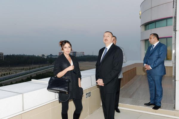 President Aliyev, first lady review conditions at new block of Naftalan Hotel by Rixos