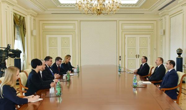 Президент Азербайджана принял делегацию под руководством главы МИД Литвы