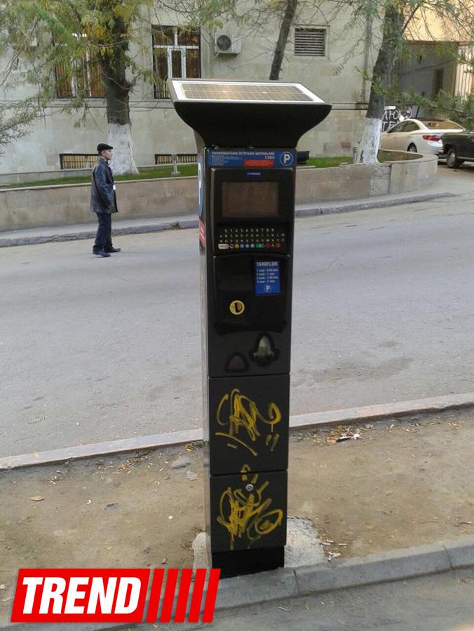 В Баку повреждены некоторые паркоматы (ФОТО)