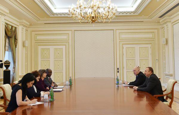 Azerbaijani president receives delegation led by WB vice president