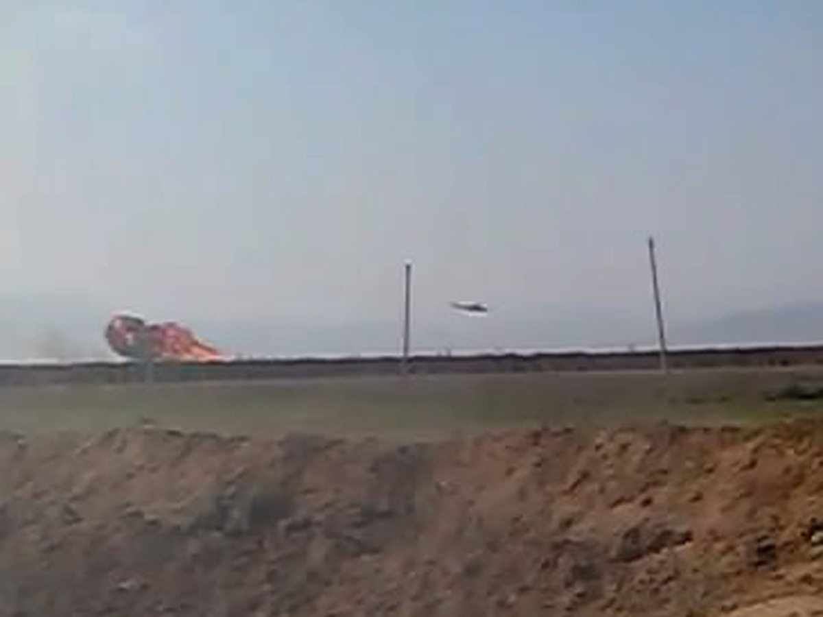 Azerbaijan's Defence Ministry makes public photos of downed Armenian military helicopter