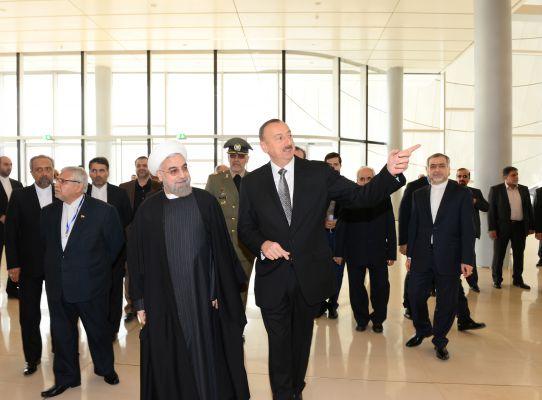 Azerbaijani, Iranian presidents attend business forum in Baku