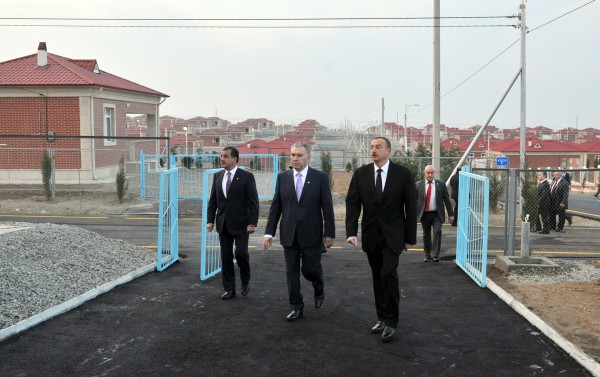 President Ilham Aliyev attended the opening of a new IDP settlement in Ganja