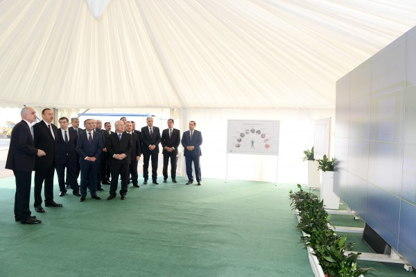 President Ilham Aliyev attended a ceremony to lay the foundation of Shamkir Agropark (PHOTO)