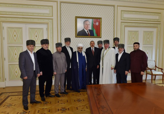 President Ilham Aliyev received members of the Supreme Religious Council of Caucasian People