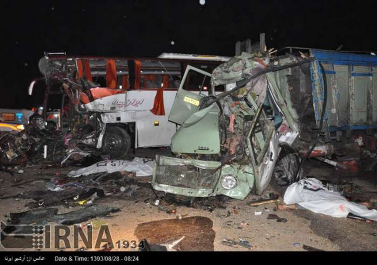 Ten people killed in Iran's bus accident (PHOTO)