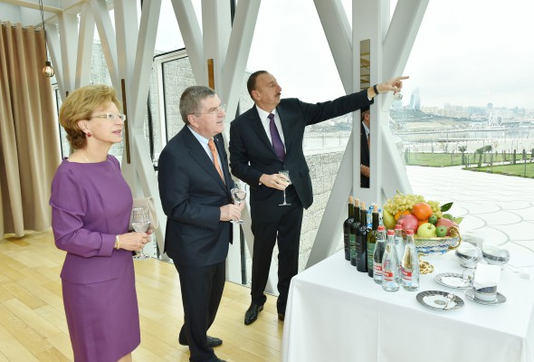 Azerbaijani president awarded with International Olympic Committee's medal