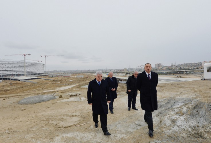Azerbaijani president reviews preparatory work for first European Games