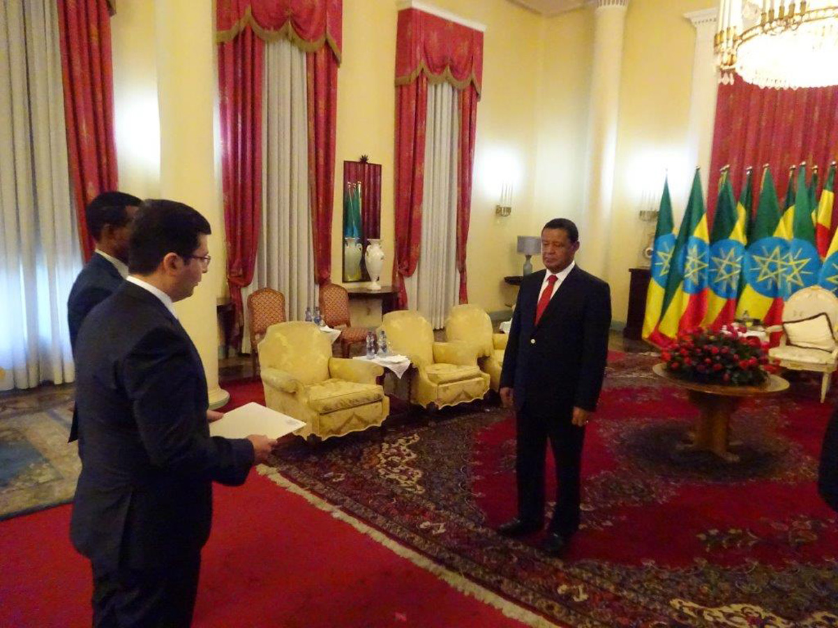 Azerbaijani ambassador accredited to Ethiopia (PHOTO)