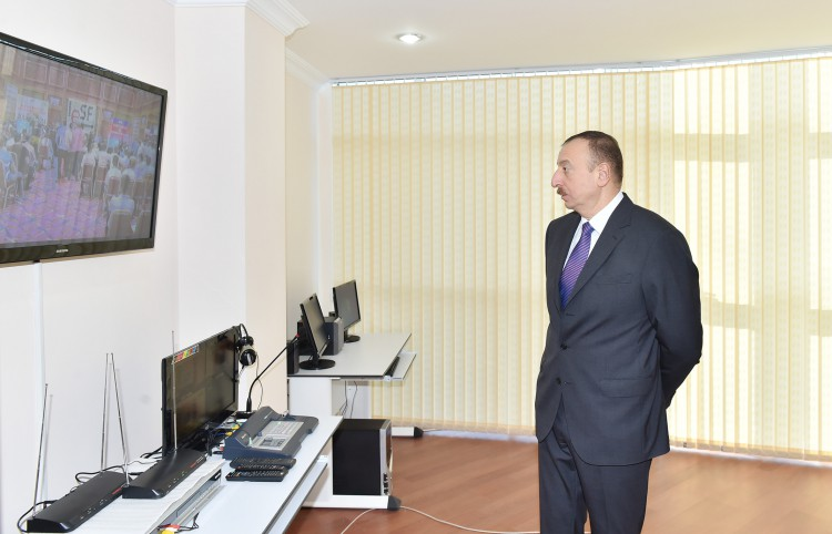President Ilham Aliyev attended the opening of the Youth House in Sumgayit