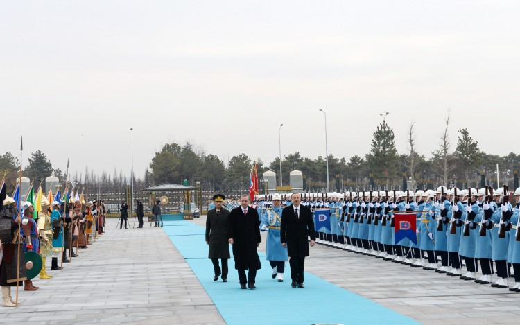 Ankara holds official welcoming ceremony of Azerbaijani president (PHOTO)