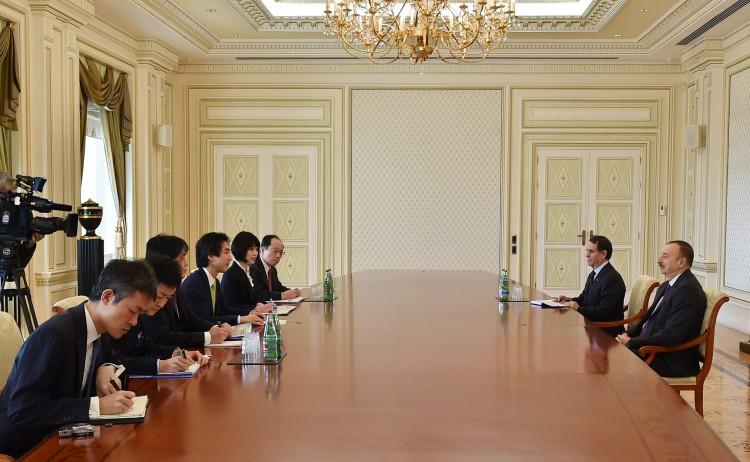 Azerbaijani president receives delegation led by Japanese deputy FM