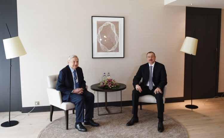 President Ilham Aliyev meets founder of Soros Foundation George Soros