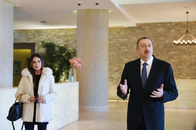 Azerbaijani president and his spouse visit Shahdag tourism complex (PHOTO)