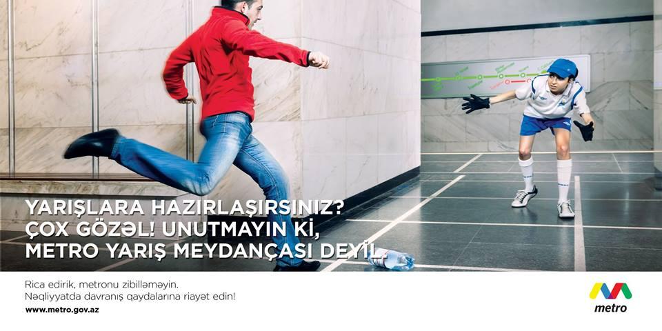 Bakı Metropolitenindən insanlara ibrət dərsləri (FOTO)