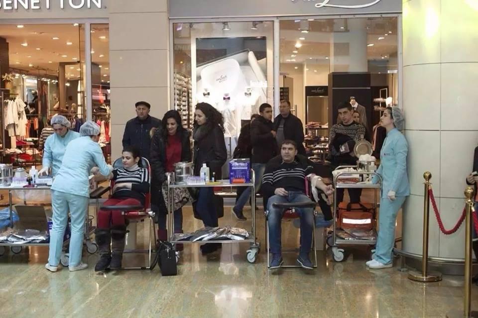 Азербайджанские звезды провели донорскую акцию  (ФОТО)