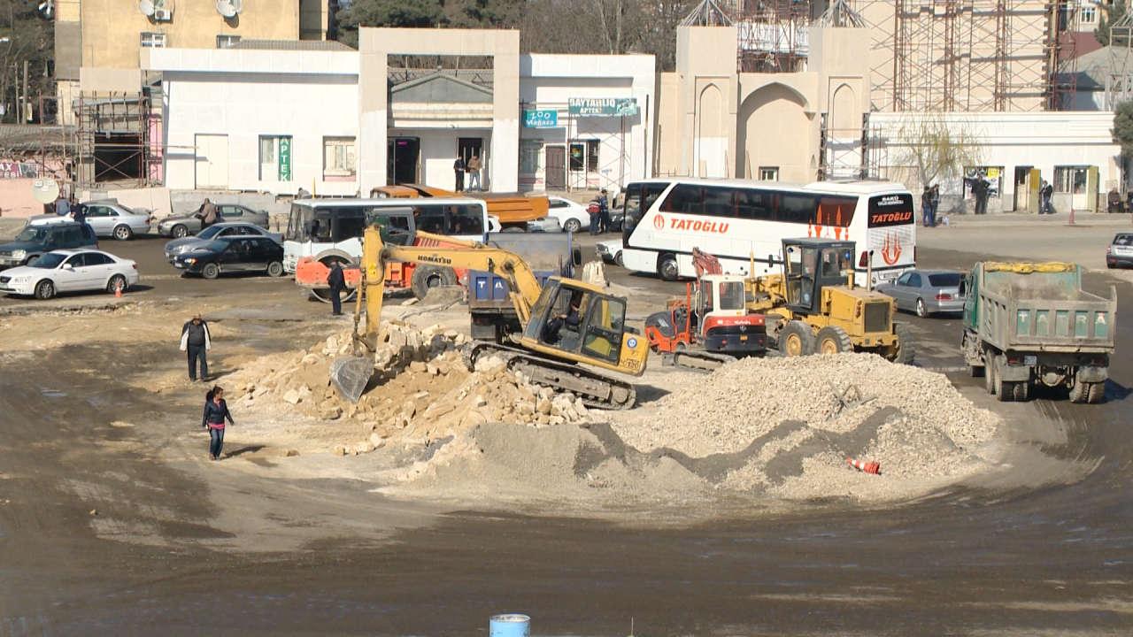 Paytaxtın Avtovağzal dairəsindəki təmir işləri tamamlanmaq üzrədir (FOTO)