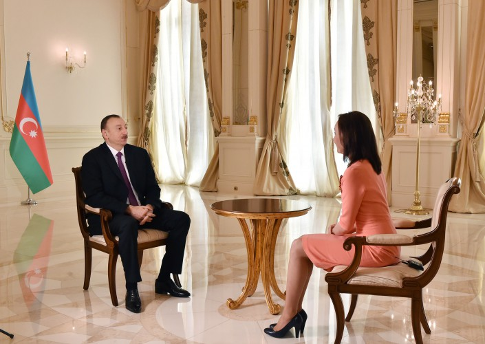 """Azərbaycan Prezidenti İlham Əliyev """"Rossiya-24"""" telekanalına müsahibə verib (FOTO+VİDEO) (YENİLƏNİB)"""