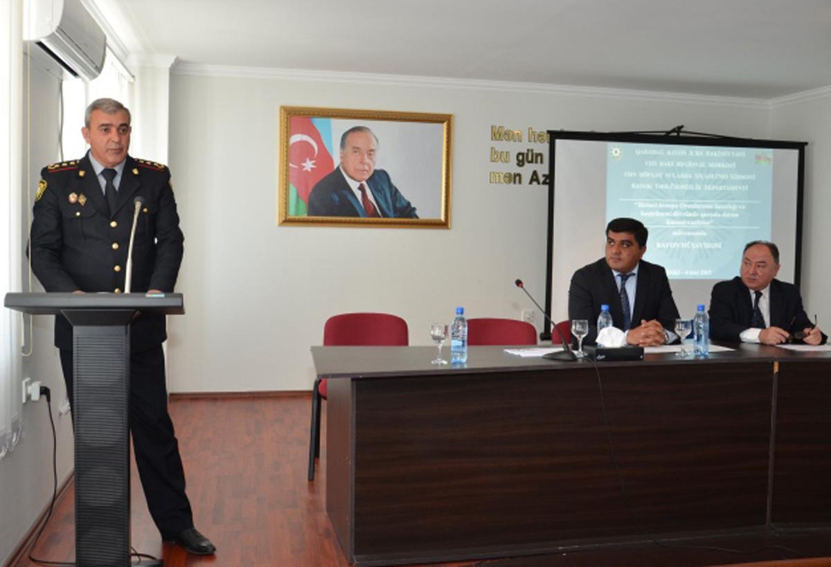 Qaradağ rayonunda Avropa Oyunlarına hazırlıqla bağlı müşavirə keçirildi (FOTO)