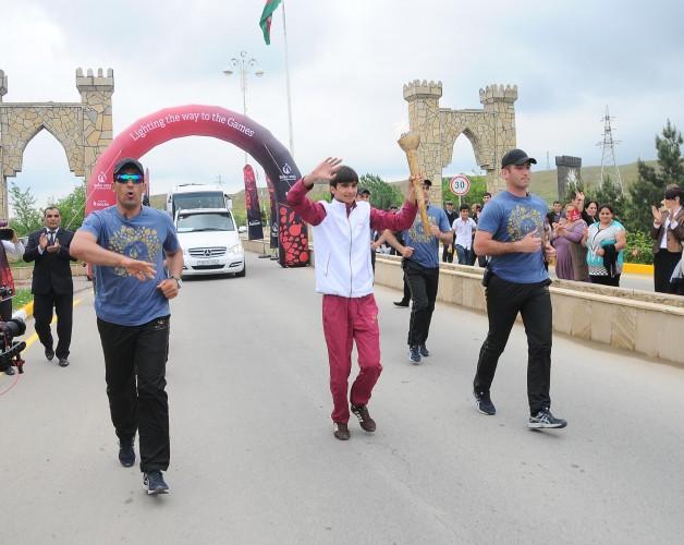 """""""Bakı-2015"""": Birinci Avropa Oyunlarının məşəli Hacıqabulda (FOTO + VİDEO)"""