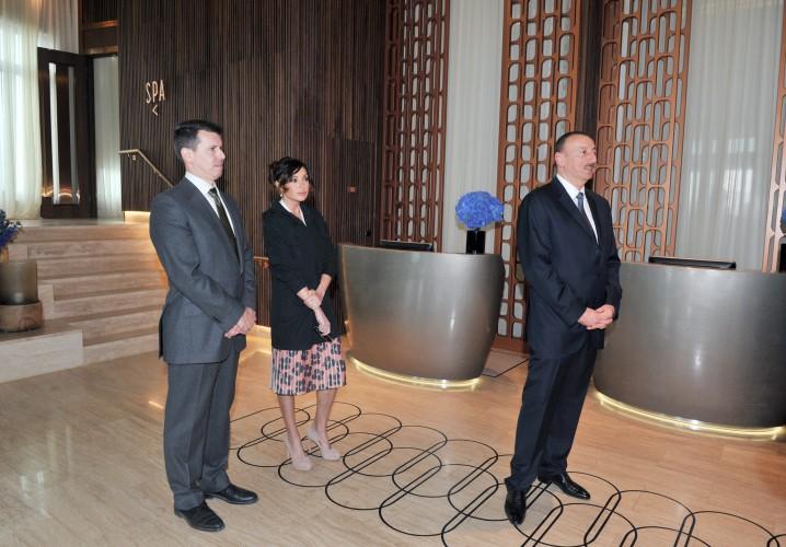 """Prezident İlham Əliyev və xanımı """"İnturist"""" otelinin açılışında iştirak ediblər (FOTO)"""