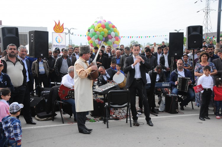 I Avropa Oyunlarının məşəli Sabirabadda alovlandırıldı (FOTO,VİDEO)