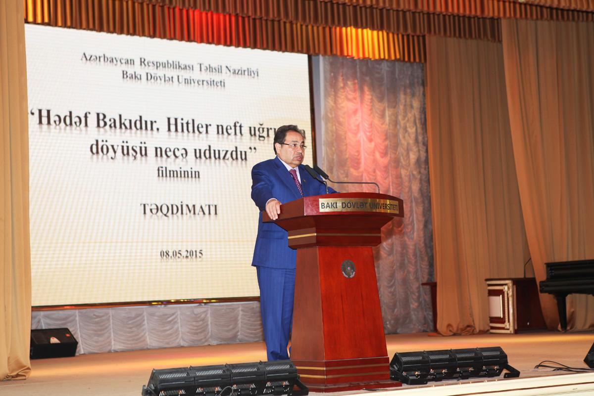 """""""Hədəf Bakıdır. Hitler neft uğrunda döyüşü necə uduzdu"""" filminin BDU-da nümayişi (FOTO)"""